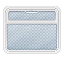 finestra nell'illustrazione vettoriale scompartimento del treno