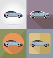 icone piane di trasporto auto illustrazione vettoriale