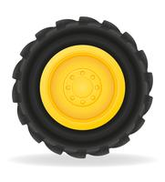 ruota per illustrazione vettoriale trattore
