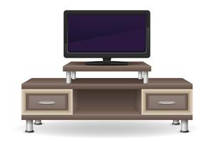 illustrazione di vettore della mobilia della tabella della TV