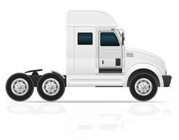 grande trattore del camion per l'illustrazione di vettore del carico del trasporto