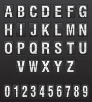 illustrazione inglese di vettore delle lettere e delle cifre del tabellone segnapunti