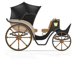 carrello per il trasporto di persone illustrazione vettoriale