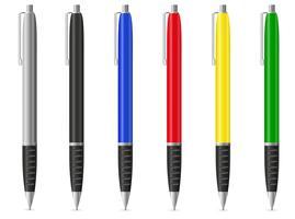 illustrazione vettoriale di colore penne stilografiche