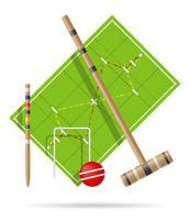 parco giochi per croquet illustrazione vettoriale