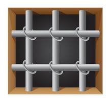 illustrazione vettoriale di prigione bar