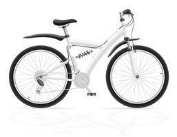 bici sportiva con l'illustrazione di vettore dell'ammortizzatore posteriore