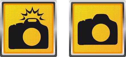 macchina fotografica delle icone per l'illustrazione di vettore di progettazione