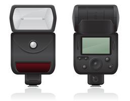 illustrazione vettoriale flash foto fotocamera