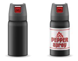 illustrazione di vettore di autodifesa sprey di gas di pepe