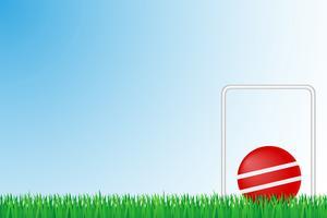 illustrazione di vettore del campo di erba del croquet