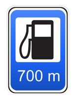 illustrazione di vettore di rifornimento di carburante del segnale stradale
