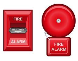 illustrazione vettoriale di allarme antincendio