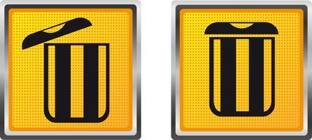pattumiera delle icone per l'illustrazione di vettore di progettazione