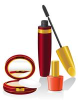 impostare cosmetici illustrazione vettoriale