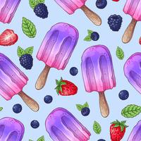 Bacche selvatiche del gelato senza cuciture del modello. Illustrazione vettoriale