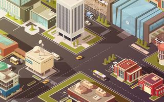 Illustrazione isometrica di edifici governativi