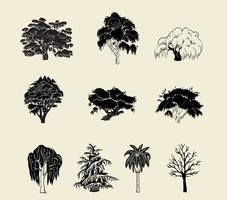 Pacchetto di vettore sagoma albero