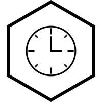 Orologio Icon Design vettore