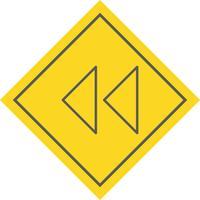 Disegno dell'icona frecce arretrate vettore