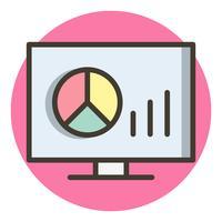 Disegno dell'icona di grafici vettore