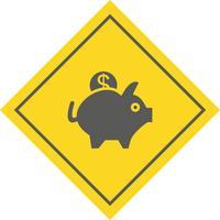 Disegno dell'icona del porcellino salvadanaio
