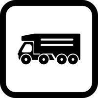 disegno dell'icona del camion di ribaltamento