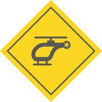 Disegno dell'icona dell'elicottero vettore