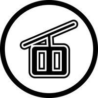Seggiovia Icon Design vettore