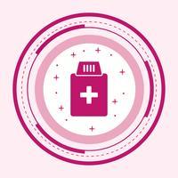 Progettazione dell'icona della bottiglia della medicina