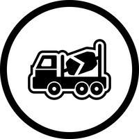 Progettazione dell'icona del miscelatore di calcestruzzo vettore