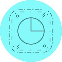 Disegno dell'icona del grafico a torta