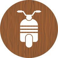 disegno dell'icona dello scooter vettore