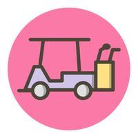 disegno dell'icona di golf cart