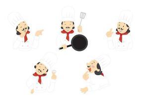 Il pacchetto vettoriale di Chef espressivo