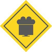 Collegato a Cloud Icon Design