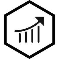 disegno dell'icona di prestazione di seo vettore