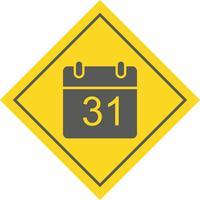 Disegno dell'icona del calendario vettore