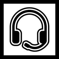 Cuffie Icon Design vettore