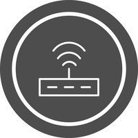 Disegno dell'icona del router vettore