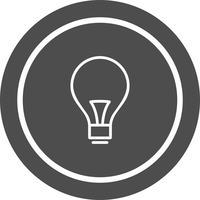 Bulbo Icon Design vettore