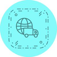 Progettazione dell'icona di consegna globale vettore