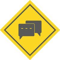 Disegno dell'icona di conversazione