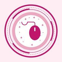 disegno dell'icona del mouse vettore