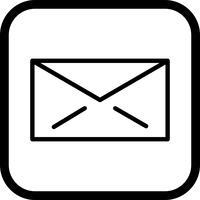 disegno dell'icona di posta elettronica vettore
