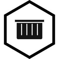 Disegno dell'icona del cestino vettore