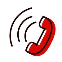 Disegno dell'icona di chiamata attiva vettore