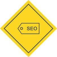Progettazione dell'icona dell'etichetta di SEO