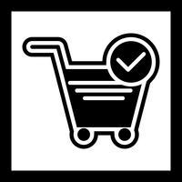 Disegno verificato dell'icona degli elementi del carrello