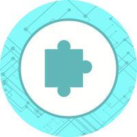 disegno dell'icona del pezzo di puzzle vettore